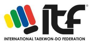 Logo de taekwondo ITF. INTERNATIONAL TAEKWONDO FEDERATION