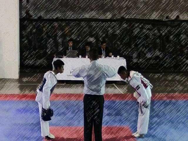 Saludo en Taekwondo