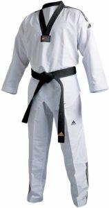 Uniforme de taekwondo Adidas 3 tiras dobok