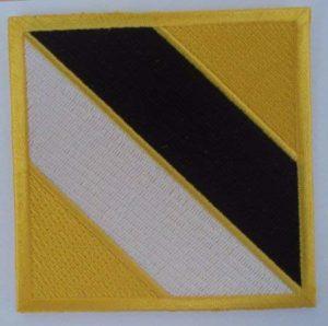 insignia intructor internacional taekwondo itf sabon nim amarillo negro blanco amarillo