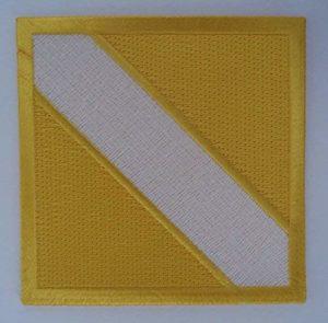 insignia instructor nacional itf sabon amarillo blanco amarillo