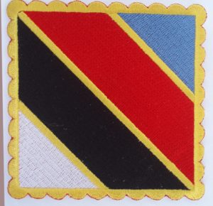 insignia gran master taekwondo itf sasong nim azul rojo negro blanco